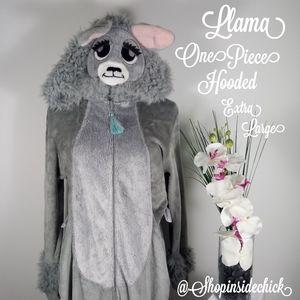 🍓$20 Llama Union Suit Pajamas Costume Llama Face
